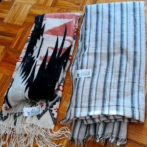 Scarf 2 set winter and summer HM NEW WITHOUT TAG